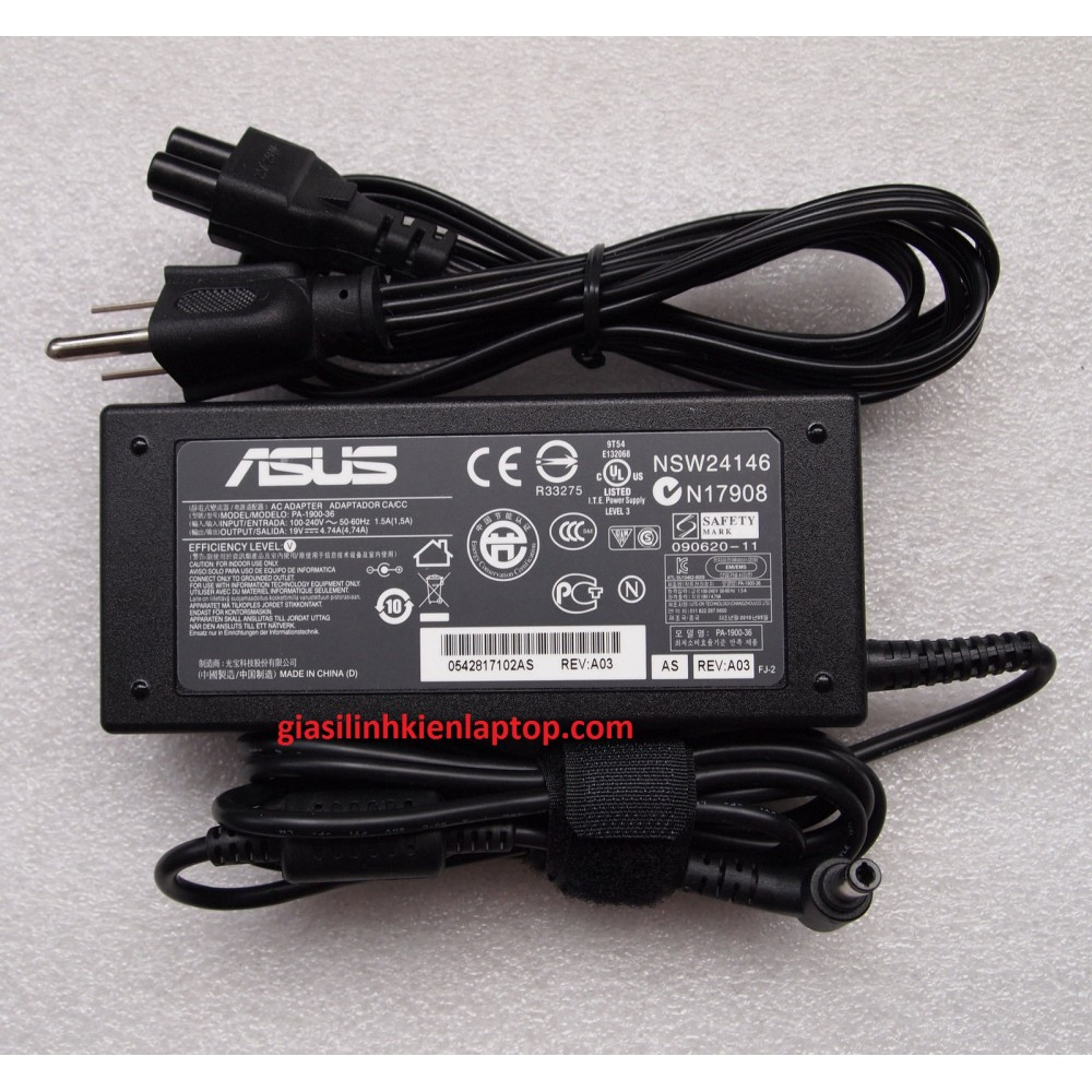 Adapter Sạc laptop Asus K62 K62F K62JR series