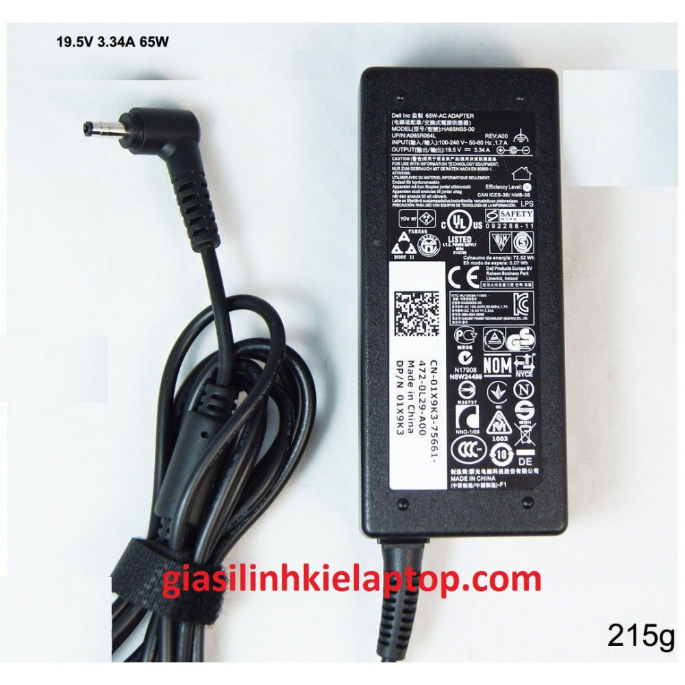 Adapter Sạc Dell inspiron 3480