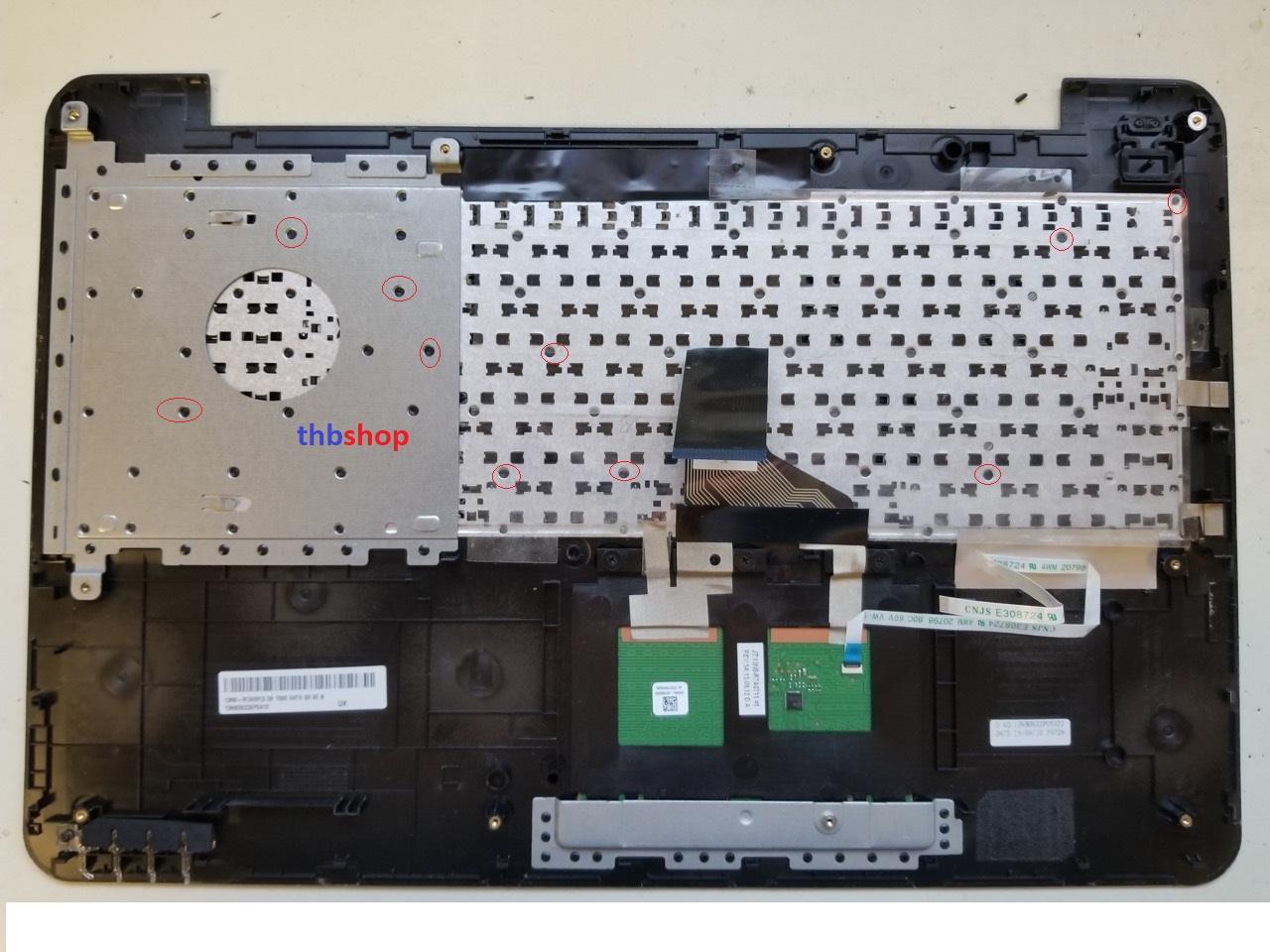 cách thay bàn phím Asus X555