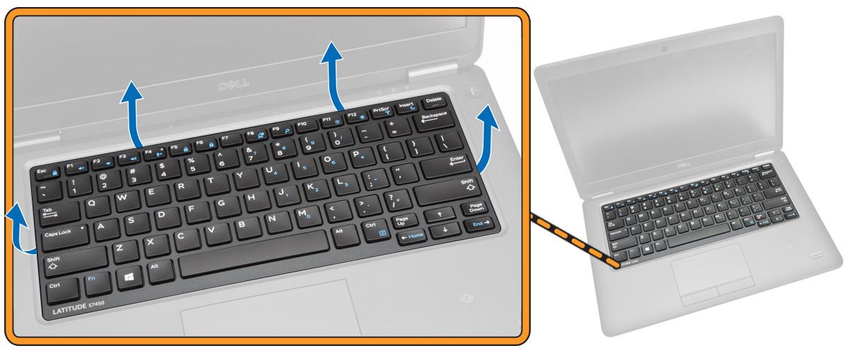 cạy khung bàn phím