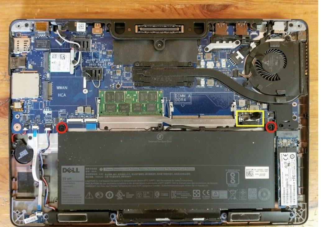 thay pin dell E7470