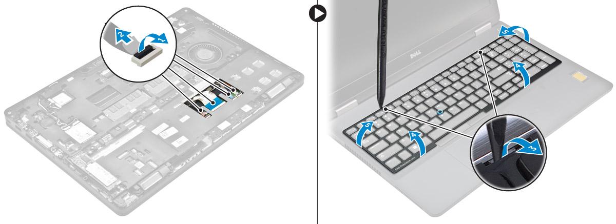 tháo khung bàn phím dell precision 3510