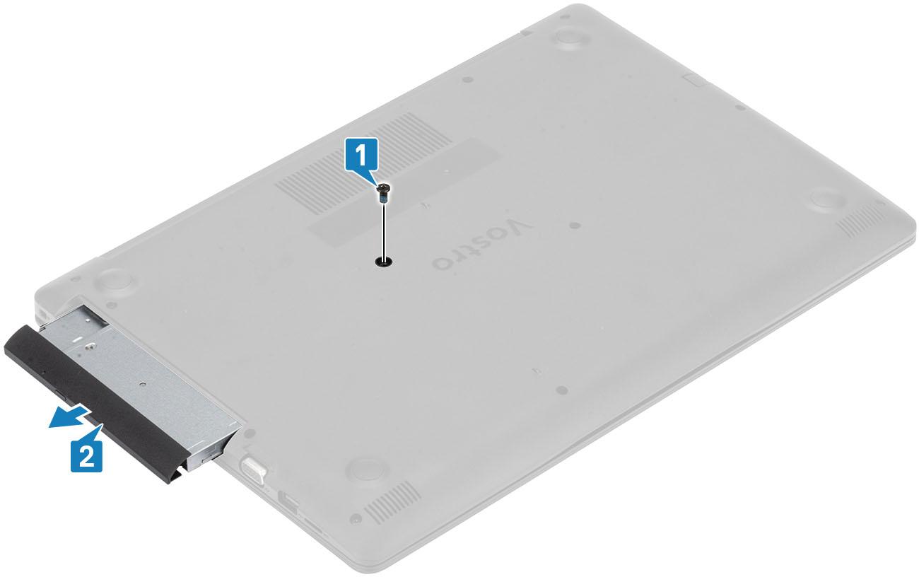 tháo ổ DVD Dell vostro 3580