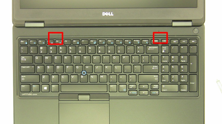 tháo khung bàn phím dell e5570