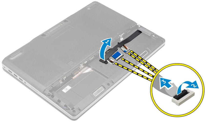 Tháo dây kết nối bàn phím dell precision 7510