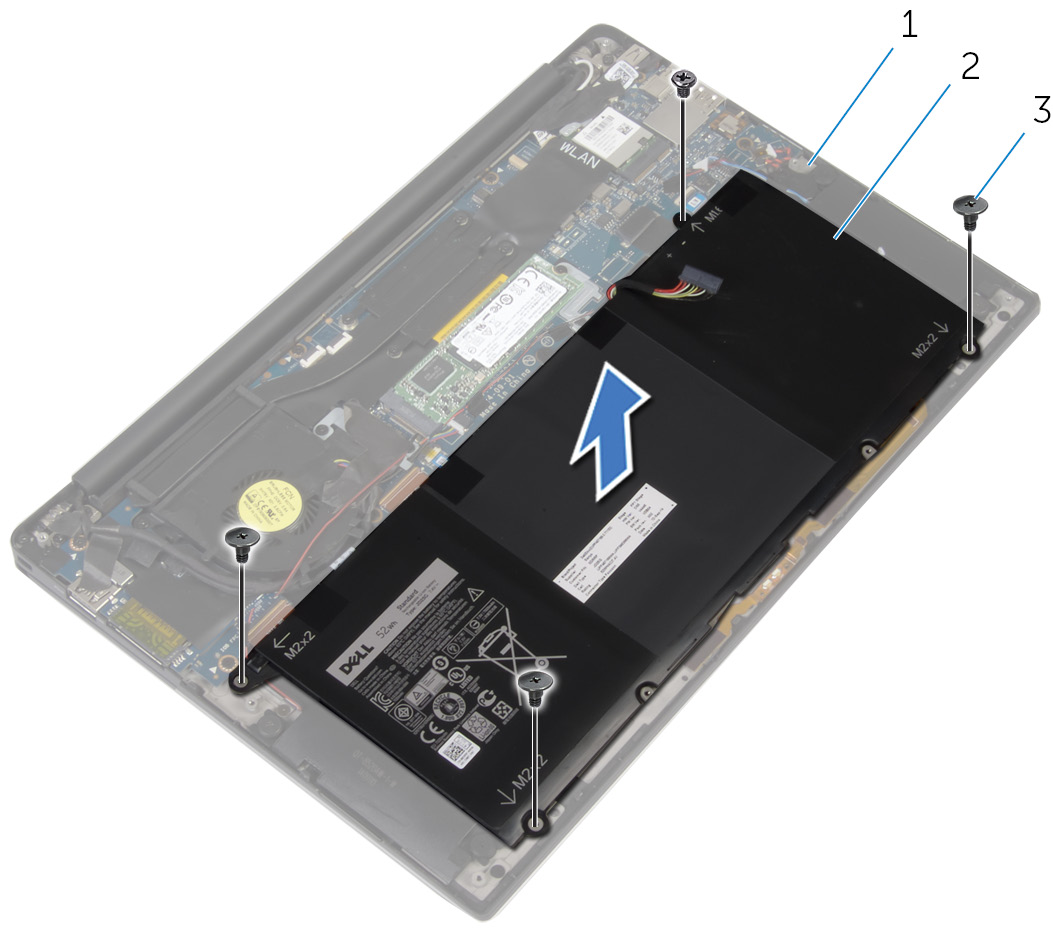 tháo pin dell xps 9350