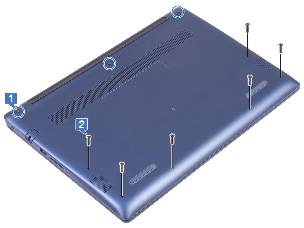 tháo nắp lưng laptop Dell vostro 5581