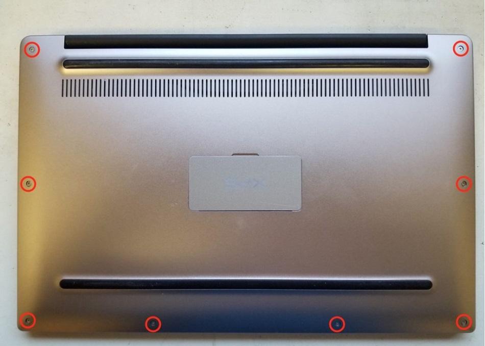 tháo nắp vỏ Dell XPS 9360